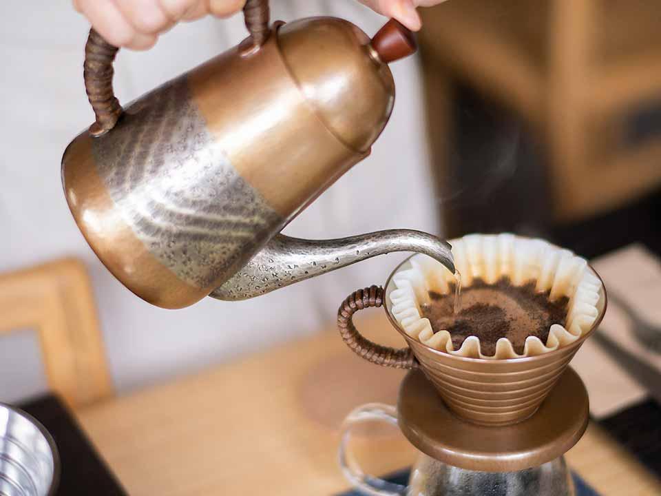 コーヒードリップの様子